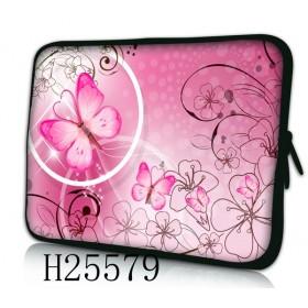 """Púzdro Huado na notebook do 13.3"""" Rúžový motýľ"""