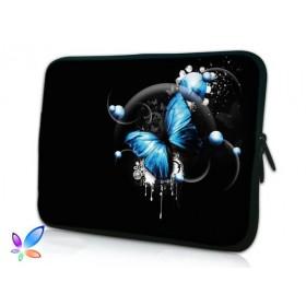 """Púzdro Huado na notebook do 14.4"""" Modrý motýľ"""