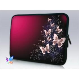 """Púzdro Huado na notebook do 14.4"""" Motýle v bordo"""