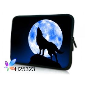 """Púzdro Huado na notebook do 14.4"""" Vlk vyjúci na mesiac"""