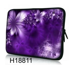 """Púzdro Huado na notebook do 14.4"""" Fialové kvety"""