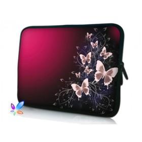 """Púzdro Huado na notebook do 15.6"""" Motýle v bordo"""