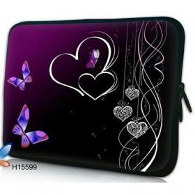 """Púzdro Huado na notebook do 17.4"""" Dvojité srdce"""