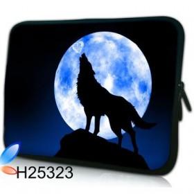 """Púzdro Huado na notebook do 17.4"""" Vlk vyjúci na mesiac"""