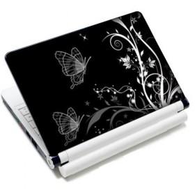 """Samolepka, skin Huado na notebook 12""""-15,6"""" Černobiele motýle"""