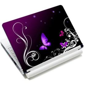 """Samolepka, skin Huado na notebook 12""""-15,6"""" Purpurové motýle"""