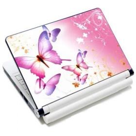 """Samolepka, skin Huado na notebook 12""""-15,6"""" Ružové motýle"""