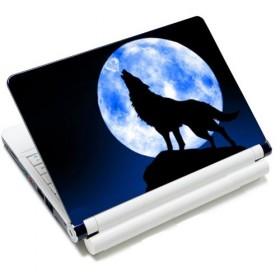 """Samolepka, skin Huado na notebook 12""""-15,6"""" Vlk vyjúci na mesiac"""