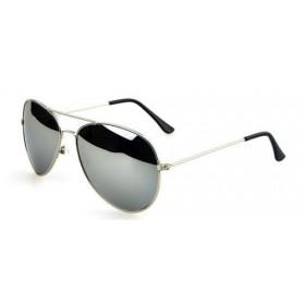 Slnečné okuliare pilotky stříbrné zrcadlové