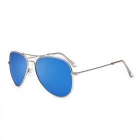 Slnečné okuliare pilotky modré zrcadllové - strieborný rám