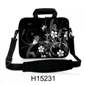 """Taška cez rameno Huado do 13.3"""" Kvetinky a motýle"""