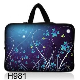 """Taška Huado na notebook do 10.2"""" Modré kvety"""