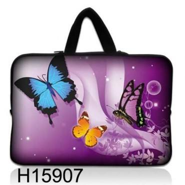 """Taška Huado na notebook do 10.2"""" Motýle vo fialovej"""