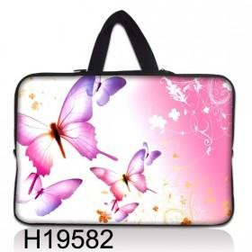 """Taška Huado na notebook do 10.2"""" Ružové motýle"""