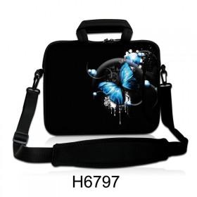 """Taška cez rameno Huado do 15.6"""" Modrý motýľ"""