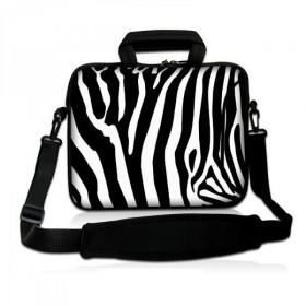 """Taška cez rameno Huado do 17.4"""" Zebra"""