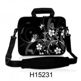 """Taška cez rameno Huado do 17.4"""" Kvetinky a motýle"""