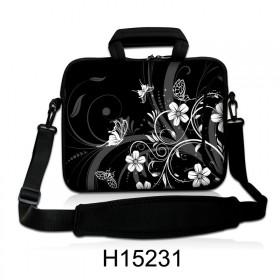 """Taška cez rameno Huado do 15.6"""" Kvetinky a motýle"""