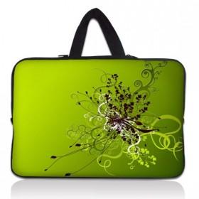 """Taška Huado na notebook do 10.2"""" Zelený rozkvet"""