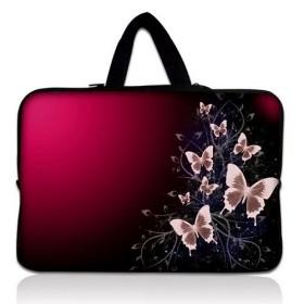 """Taška Huado na notebook do 12.1"""" Motýle v bordo"""