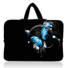 """Taška Huado na notebook do 12.1"""" Modrý motýľ"""