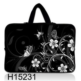 """Taška Huado na notebook do 12.1"""" Kvetinky a motýle"""