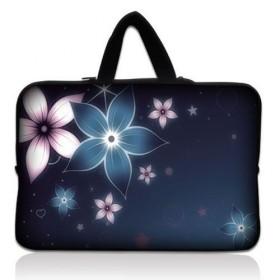 """Taška Huado na notebook do 14.4"""" Modré kvety"""
