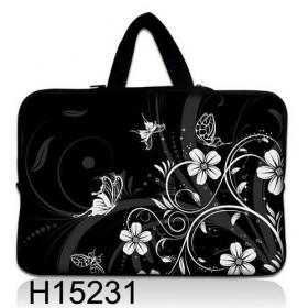 """Taška Huado na notebook do 14.4"""" Kvetinky a motýle"""