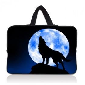 """Taška Huado na notebook do 14.4"""" Vlk vyjúci na mesiac"""