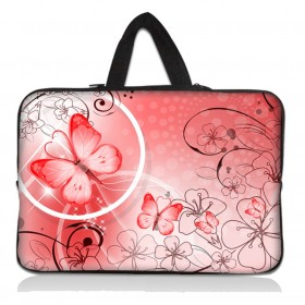 """Taška Huado na notebook do 14.4"""" Rúžový motýľ"""