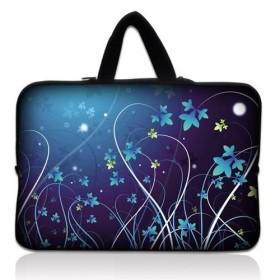 """Taška Huado na notebook do 15.6"""" Modré kvety"""
