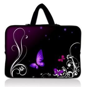 """Taška Huado na notebook do 17.4"""" Purpurové motýle"""