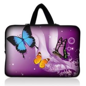 """Taška Huado na notebook do 17.4"""" Motýle vo fialovej"""