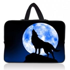 """Taška Huado na notebook do 17.4"""" Vlk vyjúci na mesiac"""