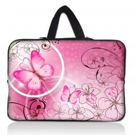"""Taška Huado na notebook do 17.4"""" Rúžový motýľ"""