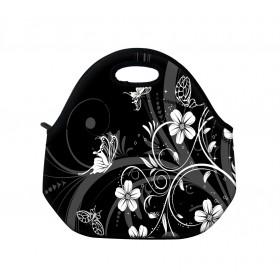 Termotaška Huado z neoprénu- Kvetiny a motýle