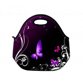 Termotaška Huado z neoprénu- Purpurové motýle