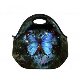 Termotaška Huado z neoprénu- Hodiny a motýľ
