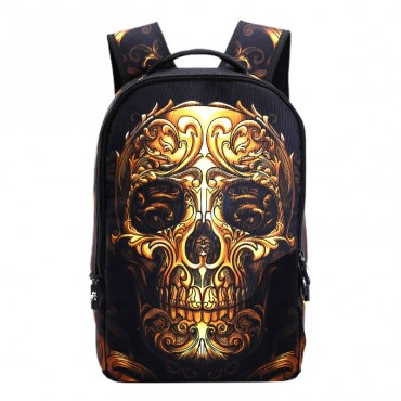 Who Cares batoh 22 l Gold skull