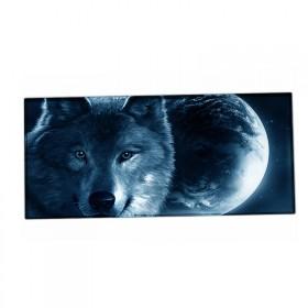 XXL podložka pod myš HUADO Vlk a mesiac
