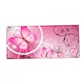 XXL podložka pod myš HUADO Motýlik ružový