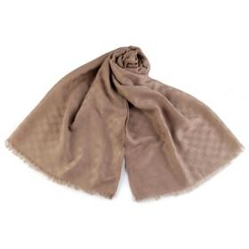 Pánský šátek vzor kostka 180 cm hnědý