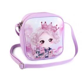 Dievčenská kabelka s dievčarkom Fialová