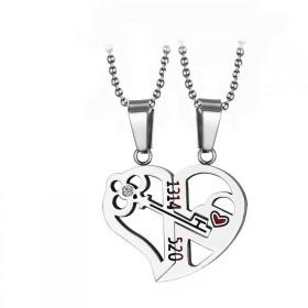 Double ocelové přívěsky LOVE CODE