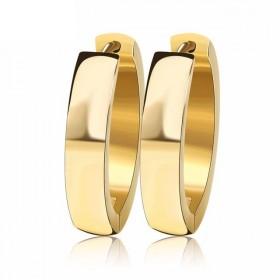 Ocelové Náušnice kruhy Elegant Zlaté