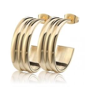 Ocelové Náušnice půlkruhy Zlaté