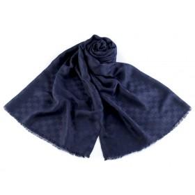 Pánský šátek vzor kostka 180 cm Modrý