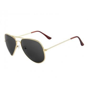 Slnečné okuliare zlatý rám dymové sklo