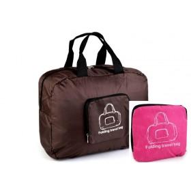 TRAVEL skladacia cestovná taška Ružová