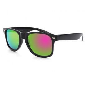Slnečné okuliare wayfarer zeleno ružové zrkadlovky